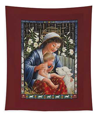 Madonna Of The Lilies Tapestry