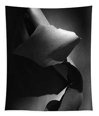 Madrona Bark Black And White Tapestry