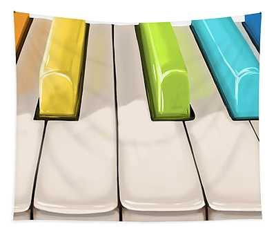 Magic Piano Tapestry