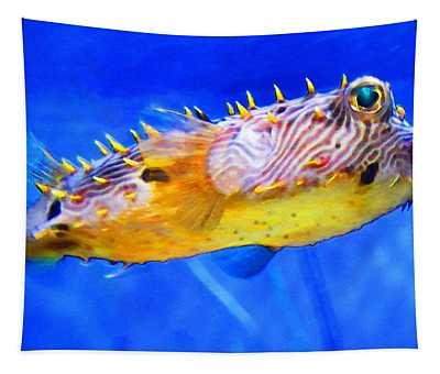 Magic Puffer - Fish Art By Sharon Cummings Tapestry