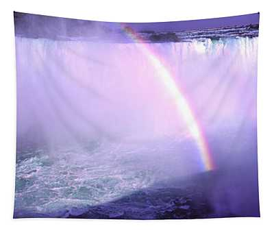Maid Of The Mist With Rainbow Tapestry