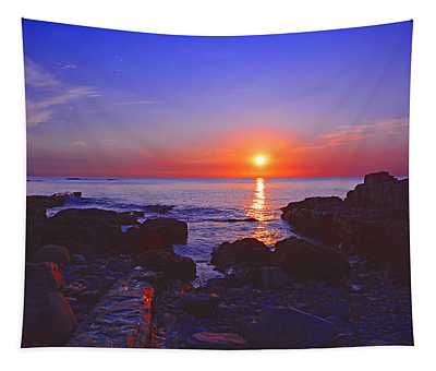 Maine Coast Sunrise Tapestry