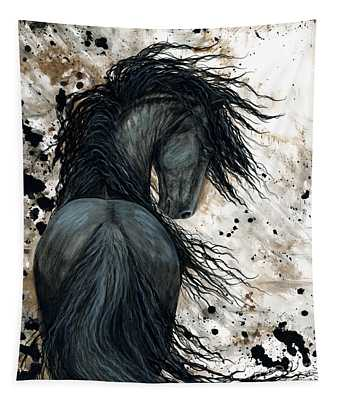 Majestic Friesian Horse 123 Tapestry