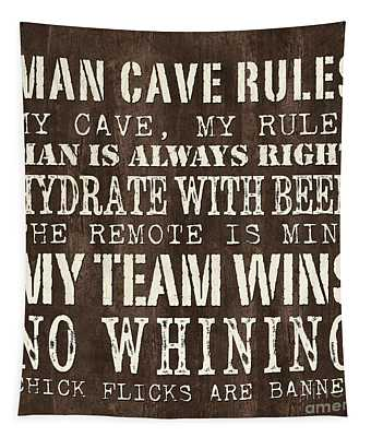 Man Cave Rules 1 Tapestry