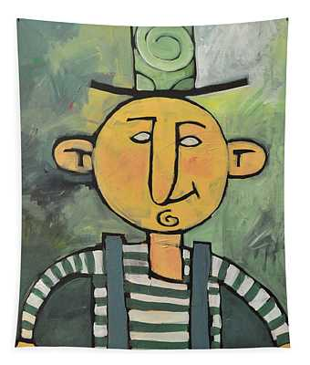 Man With Fancy Hat And Suspenders Tapestry