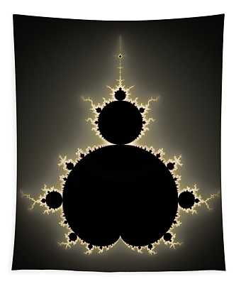 Mandelbrot Set Square Format Art Tapestry