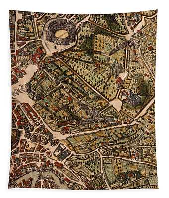 Map Of Rome Tapestry