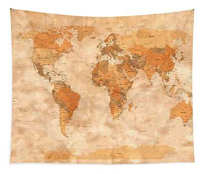 Map Of The World Tapestry