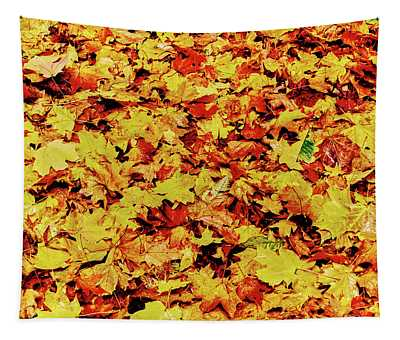 Maple Leaves On Ground, New York State Tapestry