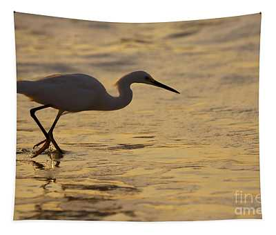 March Of The Egret Tapestry
