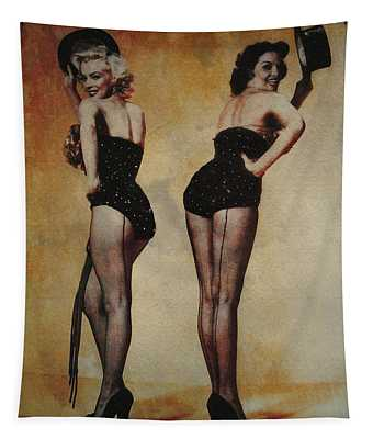 Marilyn Monroe And Jane Russell Tapestry