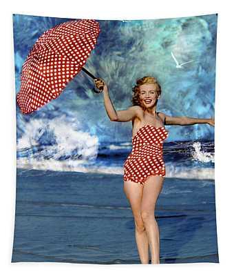 Marilyn Monroe - On The Beach Tapestry