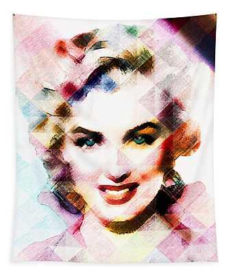 Marilyn Monroe Pastel Tapestry