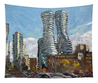 Marilyn Monroe Towers In Mississauga Tapestry