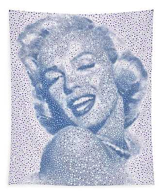 Marilyn Monroe Dot To Dot  Tribute Tapestry