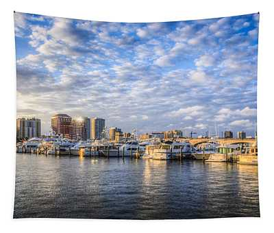 Marina In Palm Beach Tapestry
