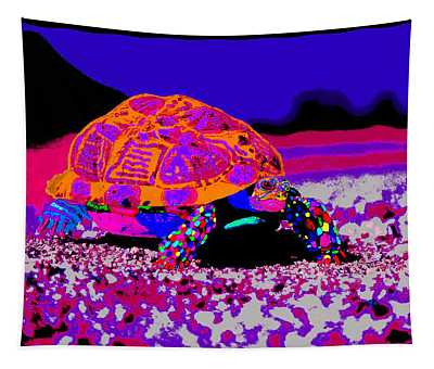 Marine Corporals Turtle In Peace Paint V3 Tapestry
