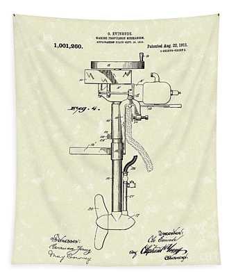 Marine Propulsion 1911 Patent Art Tapestry