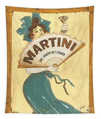 Martini Paintings Wall Tapestries