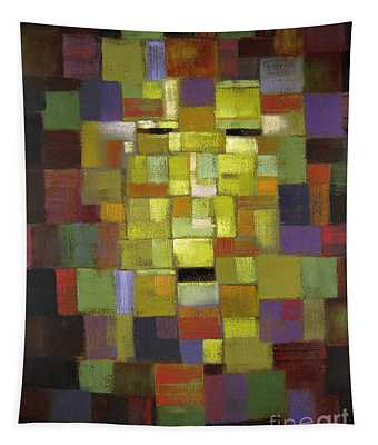 Mask Of Color Tapestry