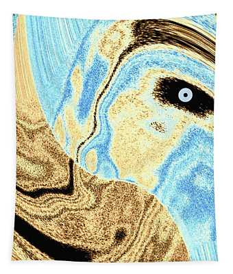 Masked- Man Abstract Tapestry
