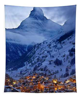 Matterhorn At Twilight Tapestry