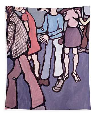 Maudsley Hospital Inmates, 1974 Oil On Canvas Tapestry