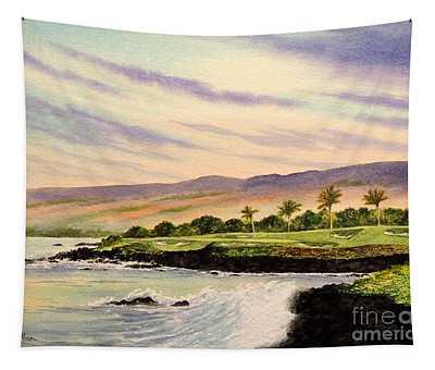 Mauna Kea Golf Course Hawaii Hole 3 Tapestry