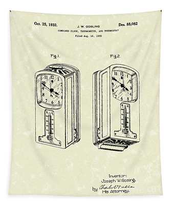 Measuring Device 1932 Patent Art Tapestry
