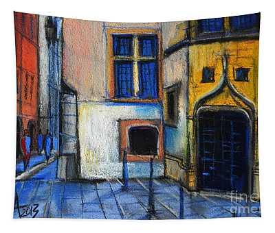 Medieval Architecture In Vieux Lyon France Tapestry