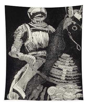 Medieval Knight On Horseback - Chevalier - Caballero - Cavaleiro - Fidalgo - Riddare -ridder -ritter Tapestry