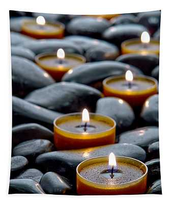 Meditation Candles Tapestry