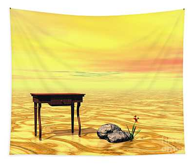 Meeting On Plain - Surrealism Tapestry