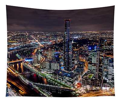 Melbourne At Night IIi Tapestry