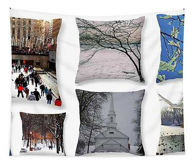 Memories Of Winter - A Collage Tapestry