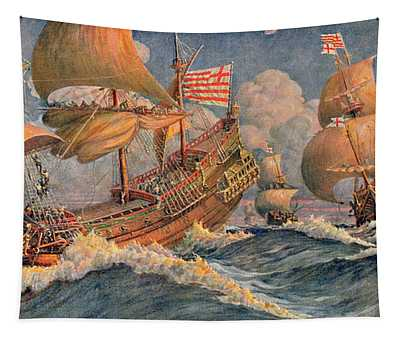 Merchant Ships Of 1640 Tapestry