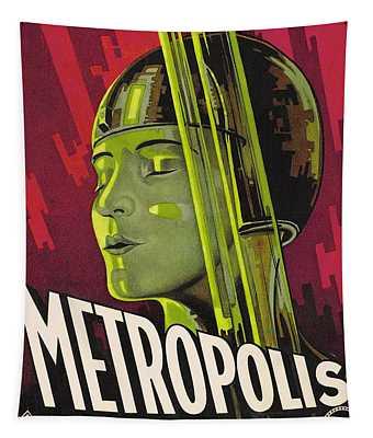 Metropolis Film Poster Tapestry