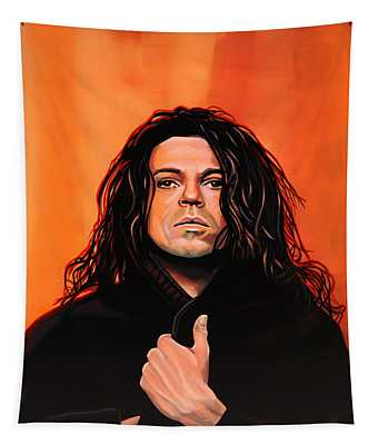 Michael Hutchence Painting Tapestry