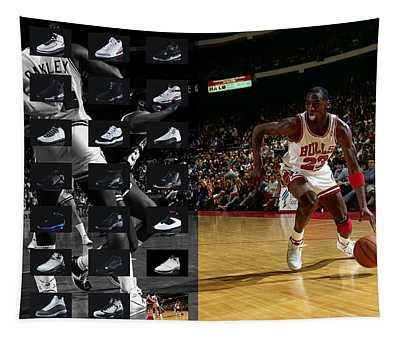 Michael Jordan Shoes Tapestry