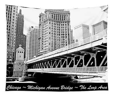Michigan Avenue Bridge Chicago Illinois Tapestry
