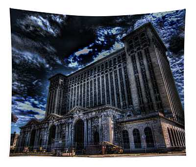 Michigan Central Station Hdr Tapestry