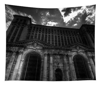Michigan Central Station Highrise Tapestry