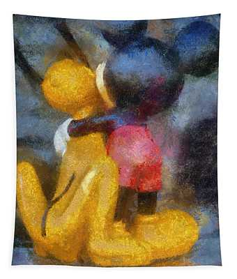 Mickey Mouse Photo Art Tapestry