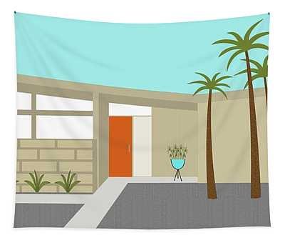 Mid Century Modern House 1 Tapestry