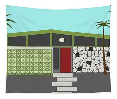 Mid Century Modern House 4 Tapestry