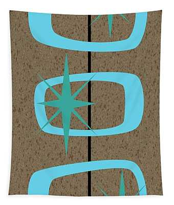 Mid Century Modern Shapes 1 Tapestry