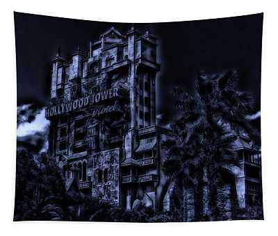 Midnight At The Tower Of Terror Tapestry