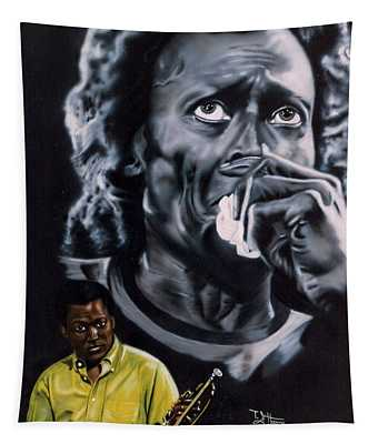 Miles Davis Jazz King Tapestry