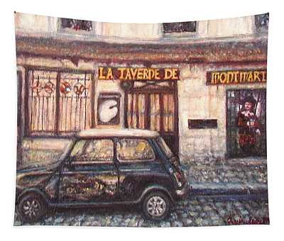 Mini De Montmartre Tapestry