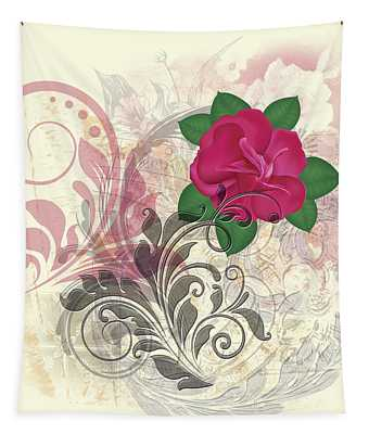 Mini Rose Flourish Tapestry
